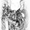 Angel with Greatsword  11x17 pencil on bristol  Not for Sale